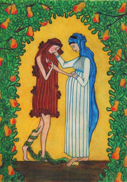 """Mary Consoles Eve"" by Sr. Grace Remington, OCSO"