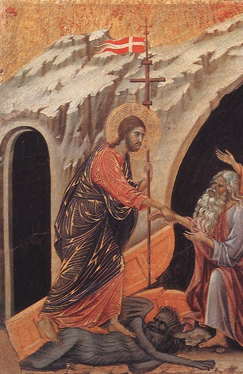 """The Harrowing of Hell"" by Duccio di Buoninsegna"